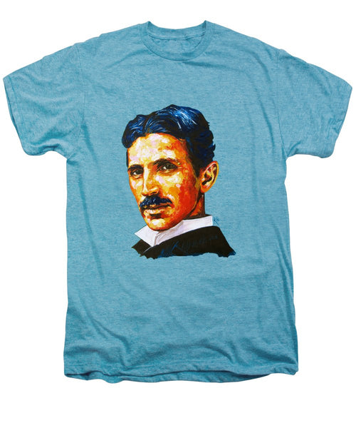 Tesla - Pure Genius - Men's Premium T-Shirt