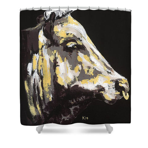 Texas Longhorn Profile - Shower Curtain