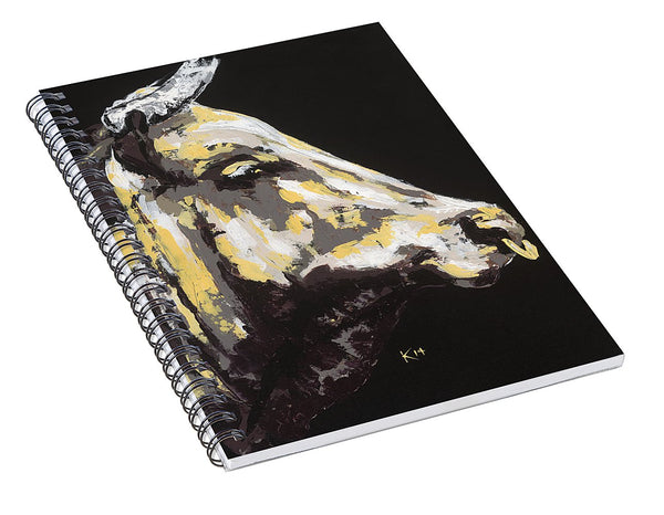 Texas Longhorn Profile - Spiral Notebook