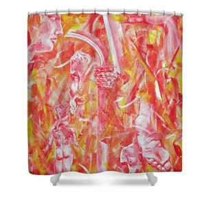 The Art Of Sculptures - Shower Curtain