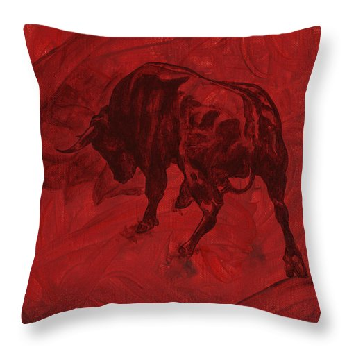 Toro Painting - Throw Pillow