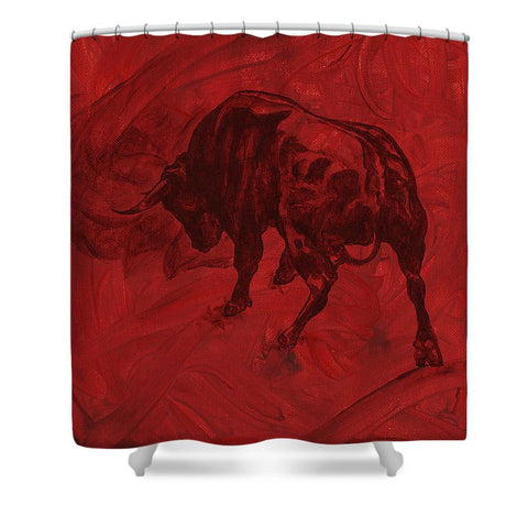 Toro Painting - Shower Curtain