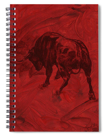 Toro Painting - Spiral Notebook