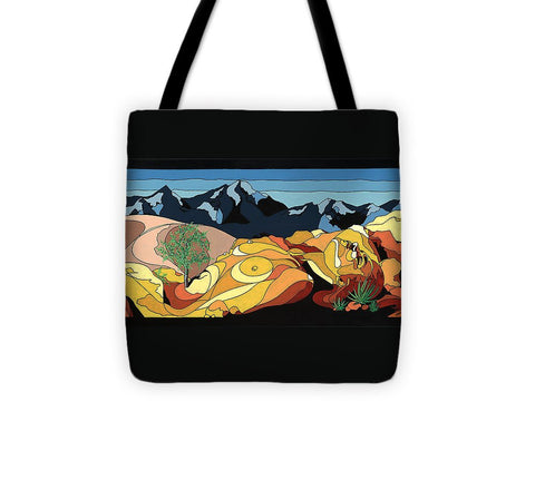 Tree Of Life Painting W/ Hidden Picture - Tote Bag