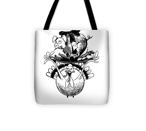 Turkey And Pig - Tote Bag