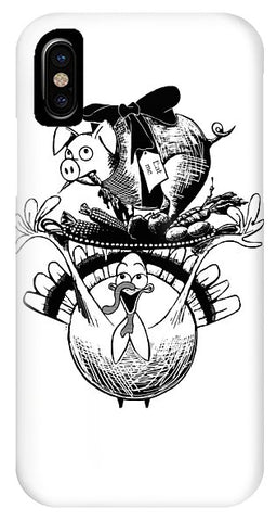 Turkey And Pig - Phone Case