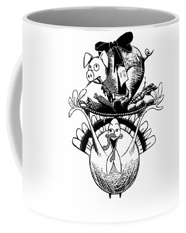 Turkey And Pig - Mug