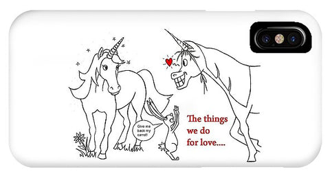 Unicorn Valentines Card - Phone Case