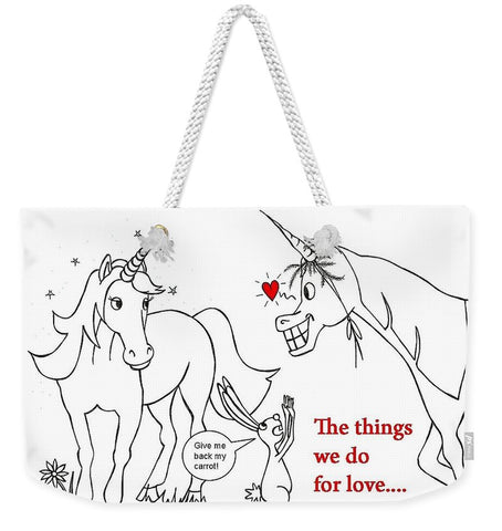 Unicorn Valentines Card - Weekender Tote Bag