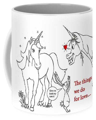Unicorn Valentines Card - Mug