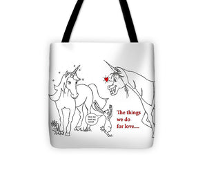 Unicorn Valentines Card - Tote Bag