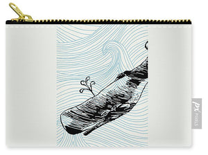 Whale On Wave Paper - Carry-All Pouch