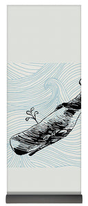 Whale On Wave Paper - Yoga Mat
