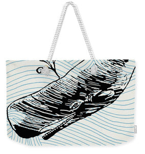 Whale On Wave Paper - Weekender Tote Bag