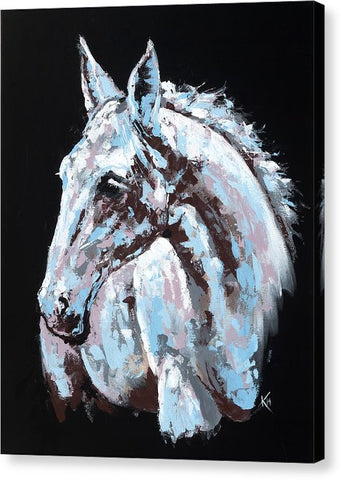 White Horse - Canvas Print