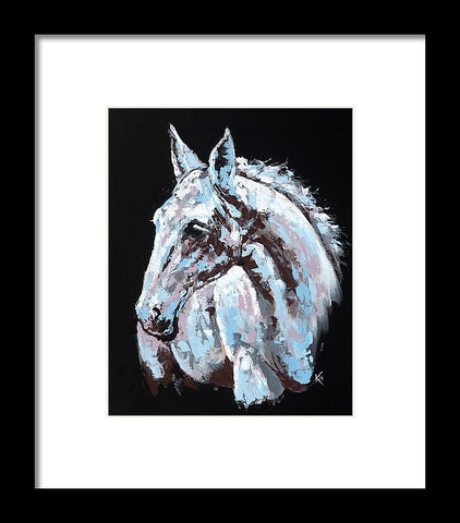 White Horse - Framed Print