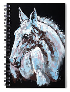 White Horse - Spiral Notebook
