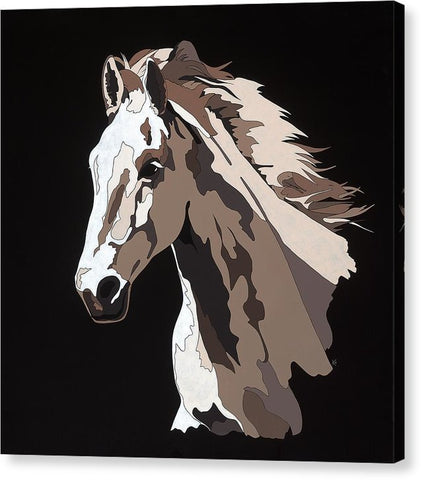 Wild Horse With Hidden Pictures - Canvas Print