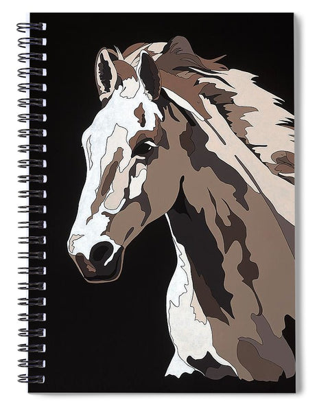 Wild Horse With Hidden Pictures - Spiral Notebook