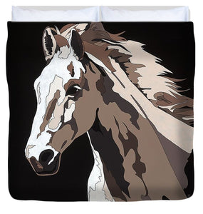 Wild Horse With Hidden Pictures - Duvet Cover