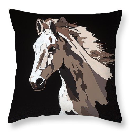 Wild Horse With Hidden Pictures - Throw Pillow