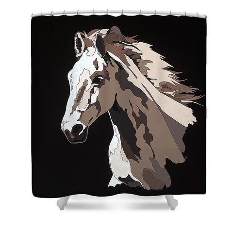 Wild Horse With Hidden Pictures - Shower Curtain