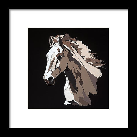 Wild Horse With Hidden Pictures - Framed Print
