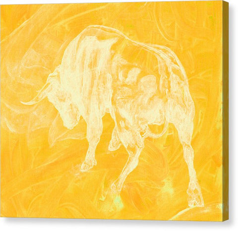 Yellow Bull Negative - Canvas Print
