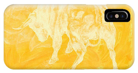 Yellow Bull Negative - Phone Case