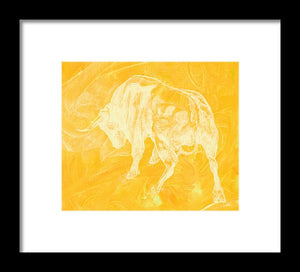 Yellow Bull Negative - Framed Print