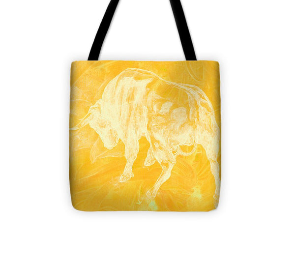 Yellow Bull Negative - Tote Bag
