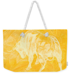 Yellow Bull Negative - Weekender Tote Bag