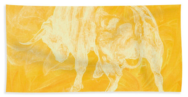 Yellow Bull Negative - Bath Towel