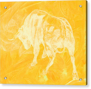 Yellow Bull Negative - Acrylic Print