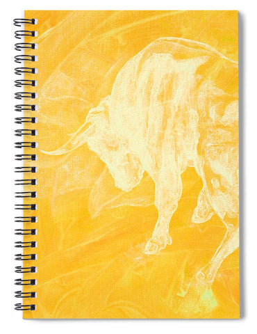 Yellow Bull Negative - Spiral Notebook