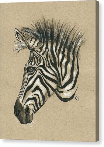 Zebra Profile - Canvas Print