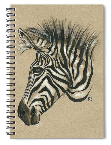 Zebra Profile - Spiral Notebook