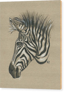 Zebra Profile - Wood Print