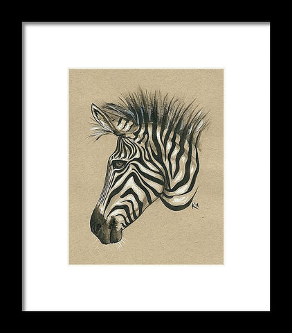 Zebra Profile - Framed Print
