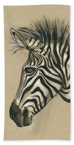 Zebra Profile - Beach Towel
