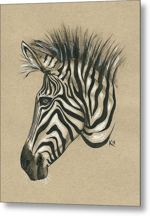 Zebra Profile - Metal Print