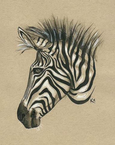 Zebra Profile - Art Print