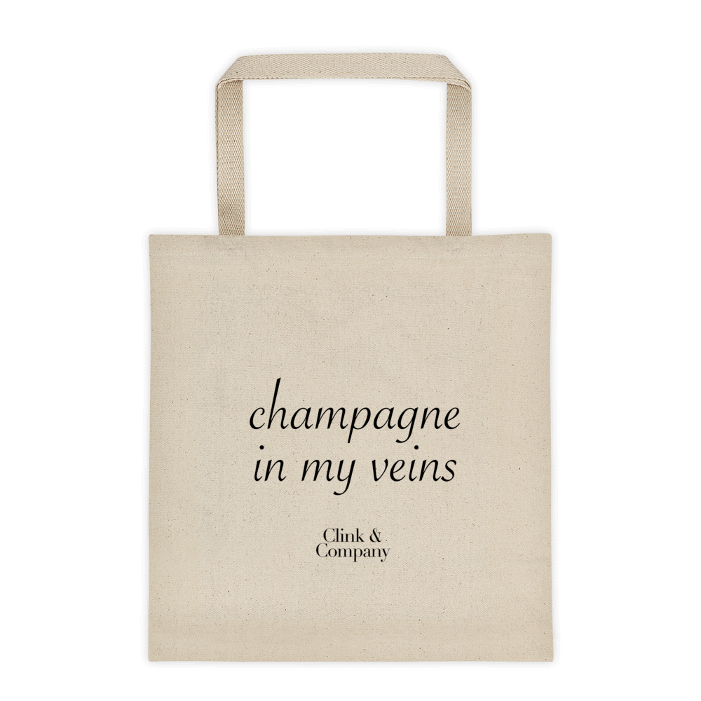 Champagne in my Veins Tote