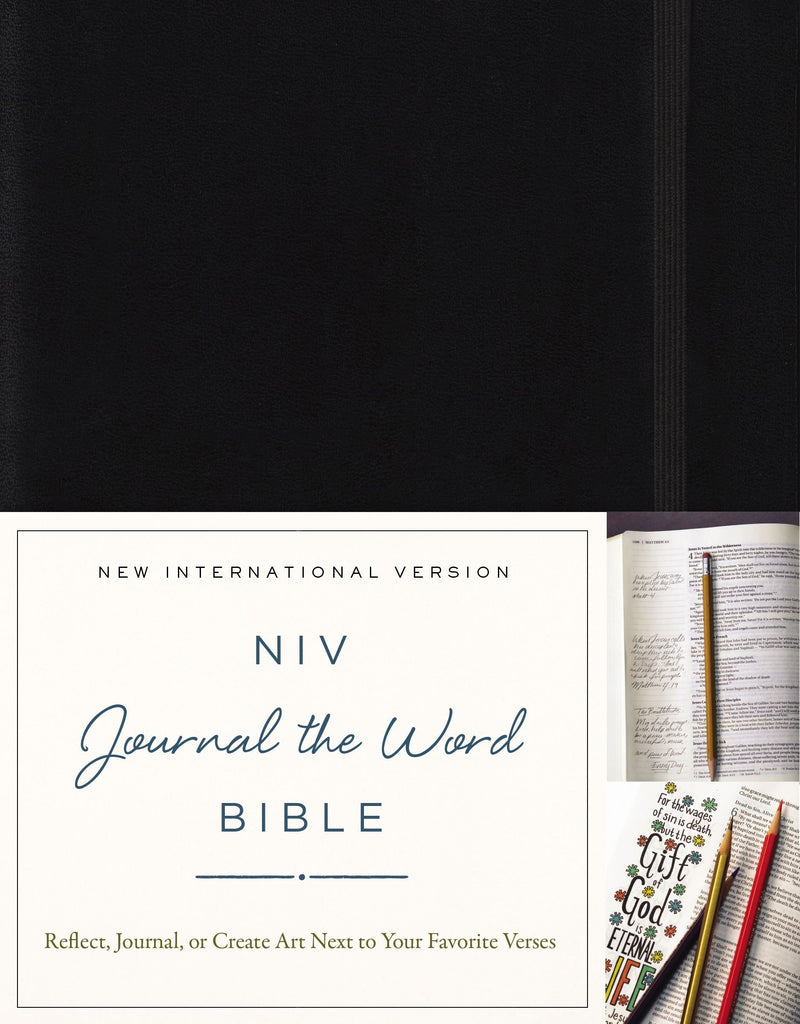 Journal the Word NIV Black Journaling Bible