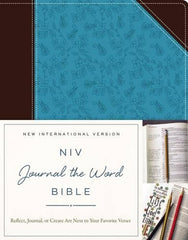 Journal the Word Brown and Turquoise Journaling Bible