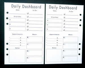 Starfish Living Planner Insert - Daily Dashboard