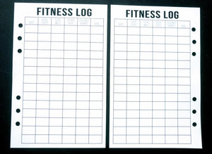 Starfish Living Planner Insert - Fitness Log