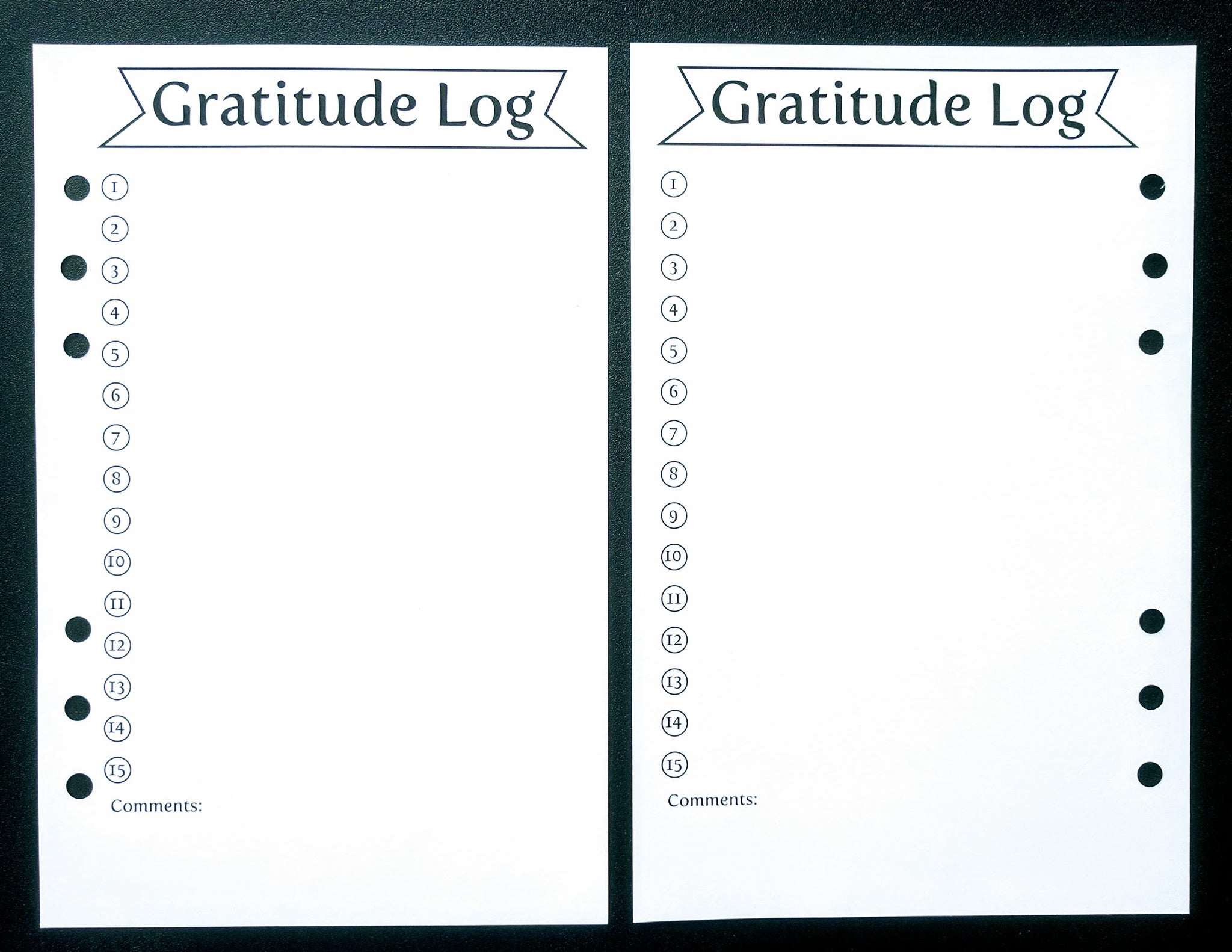 Starfish Living Planner Insert - Gratitude Log