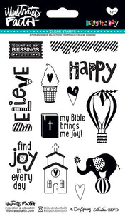 Illustrated Faith Clear Stamps - Delight In His Day