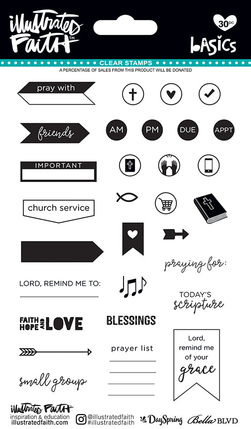 Illustrated Faith Planner Clear Stamps